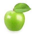 Single a green apple