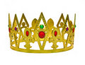 Single gold crown with gems Royalty Free Stock Photos