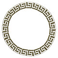 Single Greek key circle gold. Royalty Free Stock Photo