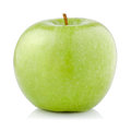 Single Green Apple isolated on a white Royalty Free Stock Photo