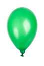 Single green balloon isolated on white Stock Images