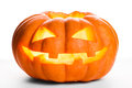 Single Halloween pumpkin. Scary Jack O'Lantern face Royalty Free Stock Photo