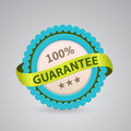 Single label of guarantee Royalty Free Stock Photo