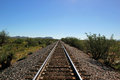 Single line railway track Royalty Free Stock Photo