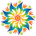 Single Mandala - Rainbow Colors Stock Photos