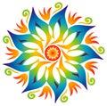 Single Mandala - Rainbow Colors
