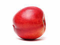 Single nectarine isolated Royalty Free Stock Images