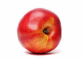 Single nectarine isolated Stock Image