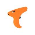 Single orange pistol for glue Royalty Free Stock Photo