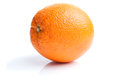 Single orange  on white Royalty Free Stock Photo