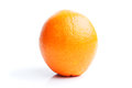 Single orange  on white Royalty Free Stock Photos