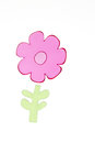 Single pink green flower shape window cling Stock Photo