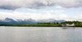 Single Prop Airplane Pontoon Plane Water Landing Alaska Royalty Free Stock Photo
