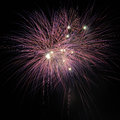 Single purple fire works at night Stock Photography