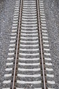 Single rail track Stock Photo