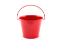 Single red bucket Royalty Free Stock Photo