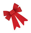 Single red Christmas bow Royalty Free Stock Photo