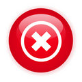 Single red decline button Stock Images