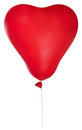 Single red heart shape balloon illustration Royalty Free Stock Images