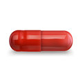 Single red pill Royalty Free Stock Photo