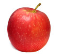 A single ripe red apple isolated on a white background Royalty Free Stock Photo