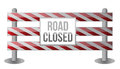 Single Road Closed Barrier illustration Royalty Free Stock Photography