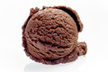 Single Scoop of Rich Chocolate Ice Cream Royalty Free Stock Photo
