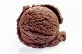 Single Scoop of Rich Chocolate Ice Cream Royalty Free Stock Photo