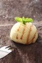 Single scoop of vanilla icecream Royalty Free Stock Photo