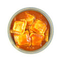 Single serving of beef ravioli Royalty Free Stock Photography