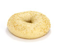Single sesame seed bagel white background Royalty Free Stock Photos