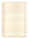 Single sheet of old grungy note paper Royalty Free Stock Photo