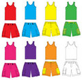 Single and Shorts with colorful Royalty Free Stock Photography