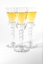 Single Shot Glass Wine Style Isolated White Background Triple Th Royalty Free Stock Photo