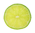 Single slice of tart green lime a and juicy Stock Image