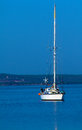 Single small Yacht Stock Photography