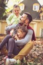 Father with children have fun. Royalty Free Stock Photo