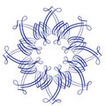 Single snowflake/flower Royalty Free Stock Photos