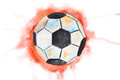 Single soccer ball Royalty Free Stock Image
