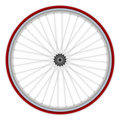 Single speed bicycle wheel Royalty Free Stock Photos