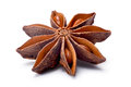 Single Star anise dried Ilicium fruit, paths Royalty Free Stock Photo