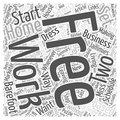 Single Step Starting Your Own Home Based Business word cloud