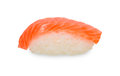 Single sushi on white Royalty Free Stock Photo
