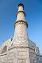 Single Taj Mahal Tower Royalty Free Stock Photography