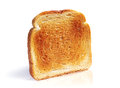 Single toast on a white background Stock Photography