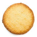 Single traditional round butter biscuit. Royalty Free Stock Photo