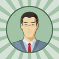 Single vector man avatar young Stock Photography