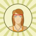 Single vector woman avatar young Stock Photo