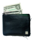 The single wallet on white isolate background Stock Photography