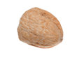 Single walnut isolated on a white background Stock Photo